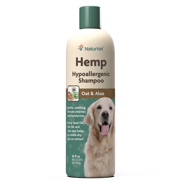 Naturvet Dog Shampoo – Hypoallergenic, 16-oz