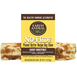 Earth Animal No-Hide Peanut Butter Chew Dog Treat, 7-in