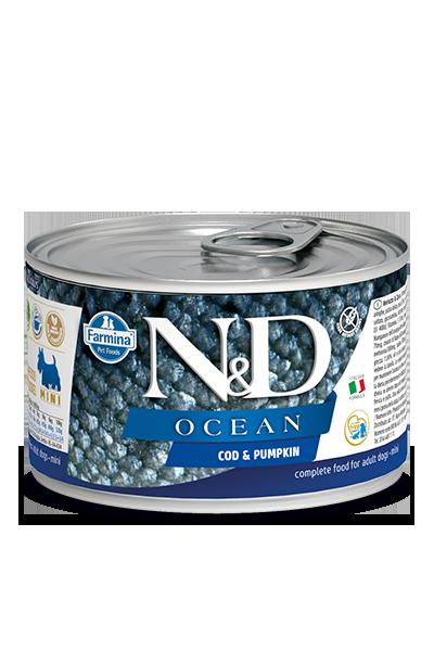 Farmina N&D Ocean Cod & Pumpkin Wet Dog Food, 4.9-oz