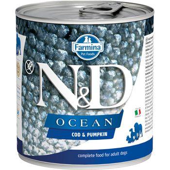 Farmina N&D Ocean Cod & Pumpkin Wet Dog Food, 10-oz