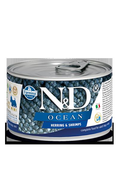 Farmina N&D Ocean Herring & Shrimp Wet Dog Food, 4.9-oz