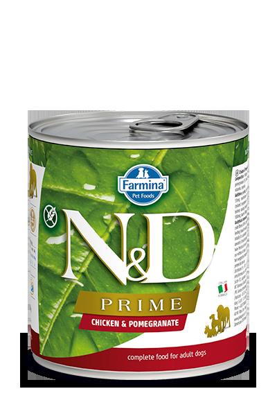 Farmina N&D Prime Chicken & Pomegranate Wet Dog Food, 10-oz