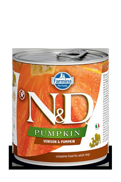 Farmina N&D Pumpkin, Venison & Apple Wet Dog Food, 10-oz