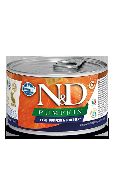Farmina N&D Pumpkin, Lamb & Blueberry Puppy Wet Dog Food, 4.9-oz