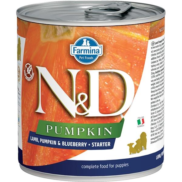 Farmina N&D Pumpkin, Lamb & Blueberry Puppy Starter Wet Dog Food Image
