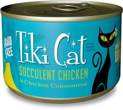 Tiki Cat Puka Puka Luau Succulent Chicken in Chicken Consomme Grain-Free Canned Cat Food, 6-oz, case of 8