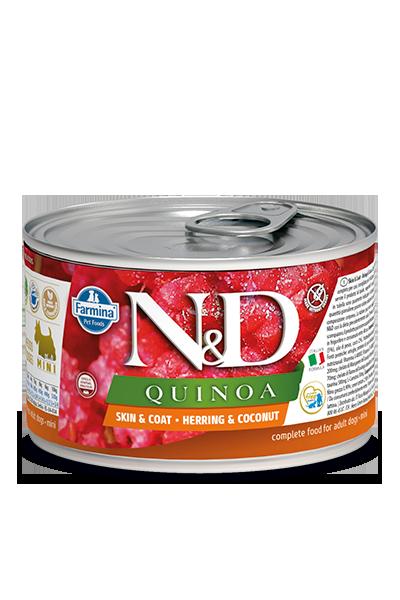 Farmina N&D Quinoa Skin & Coat Herring & Coconut Wet Dog Food, 4.9-oz