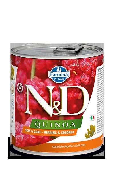 Farmina N&D Quinoa Skin & Coat Herring & Coconut Wet Dog Food Image