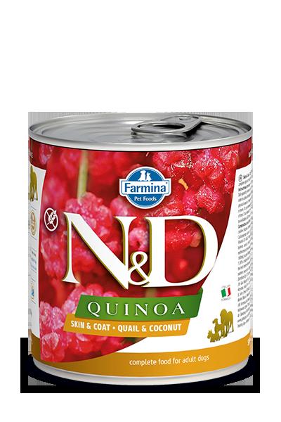 Farmina N&D Quinoa Skin & Coat Quail & Coconut Wet Dog Food Image
