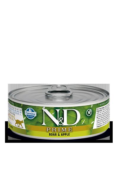 Farmina N&D Prime Boar & Apple Wet Cat Food, 2.8-oz