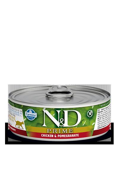 Farmina N&D Prime Chicken & Pomegranate Wet Cat Food, 2.8-oz
