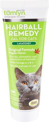 Tomlyn Laxatone Hairball Remedy Maple Flavor Gel Cat Supplement, 2.5-oz