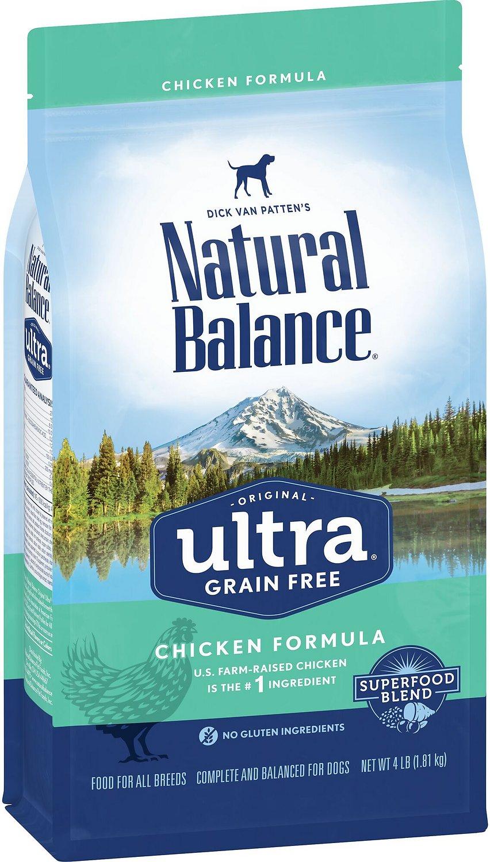 Natural Balance Original Ultra Grain-Free Chicken Formula Dry Dog Food, 4-lb