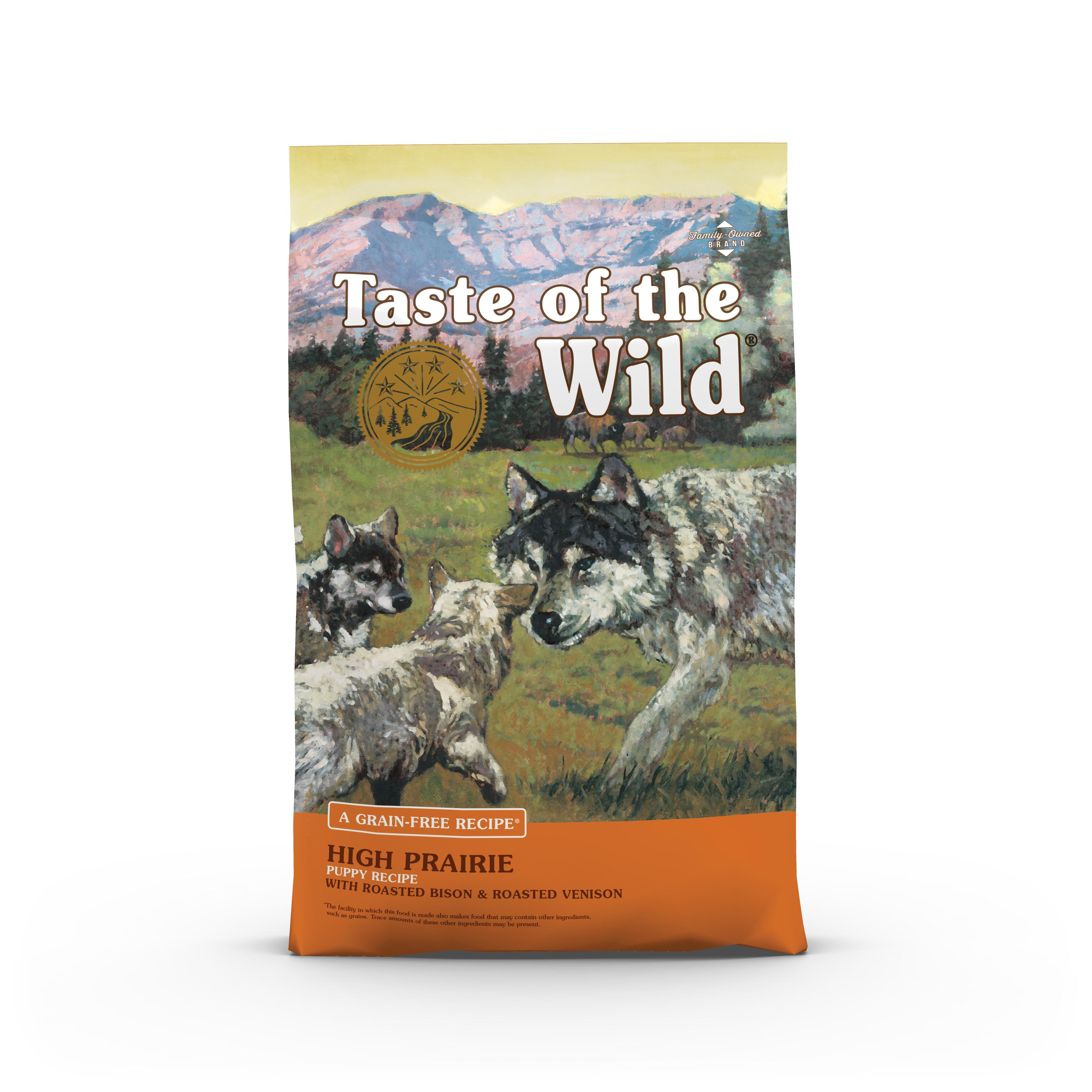 Taste of the Wild High Prairie Puppy Formula Grain-Free Dry Dog Food, 14-lb