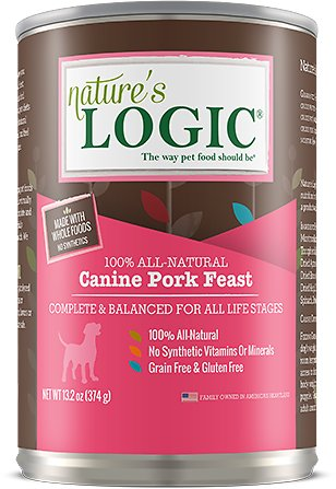 Nature's Logic Canine Pork Feast Grain-Free Canned Dog Food, 13.2-oz