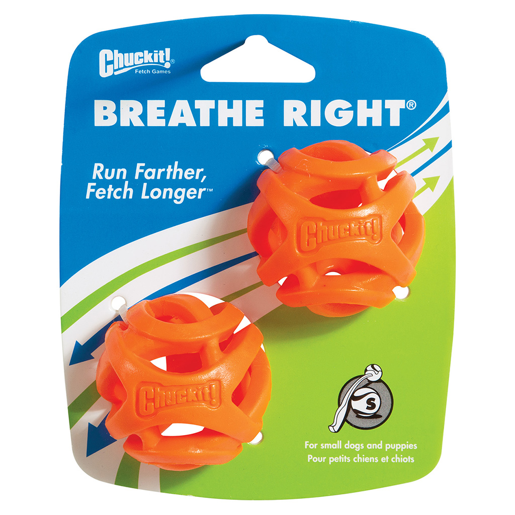Chuckit! Breathe Right Fetch Ball 2-Pack Dog Toy Image