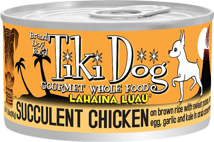 Tiki Dog Lahaina Luau Succulent Chicken on Brown Rice with Crab Canned Dog Food, 14-oz