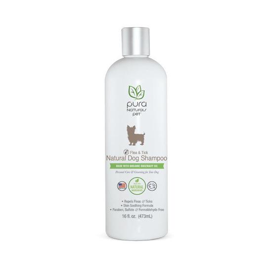 Pura Naturals Flea & Tick Natural Dog Shampoo, 16-oz (Size: 16-oz) Image