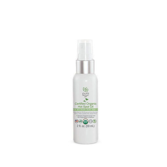Pura Naturals Certified Organic Hot Spot Oil For Dogs, 2-oz (Size: 2-oz) Image