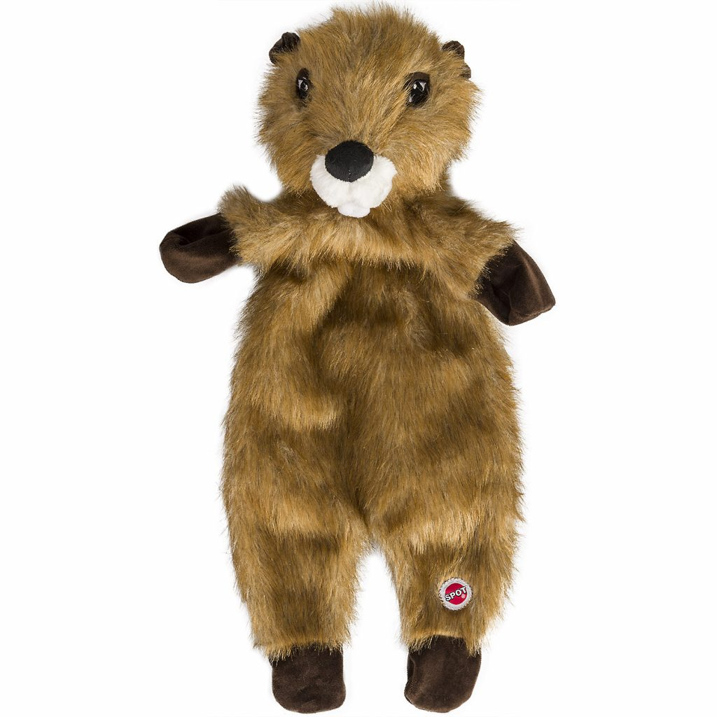 Ethical Pet Spot Furzz Beaver Dog Toy, 13.5-inch