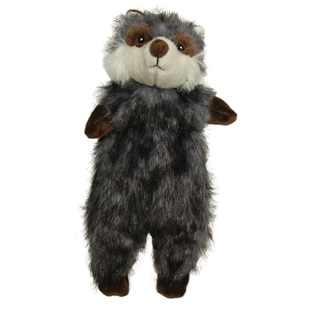 Ethical Pet Spot Furzz Raccoon Dog Toy, 13.5-inch