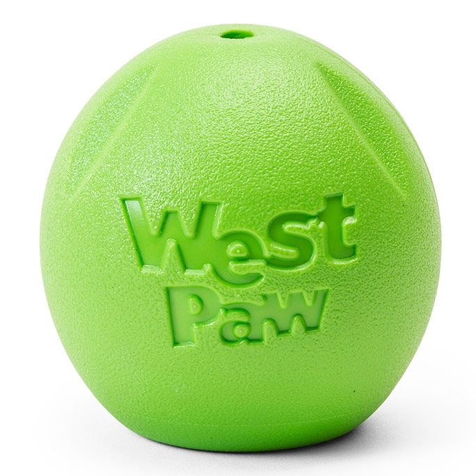 West Paw Rando Ball Dog Toy, Jungle Green Image