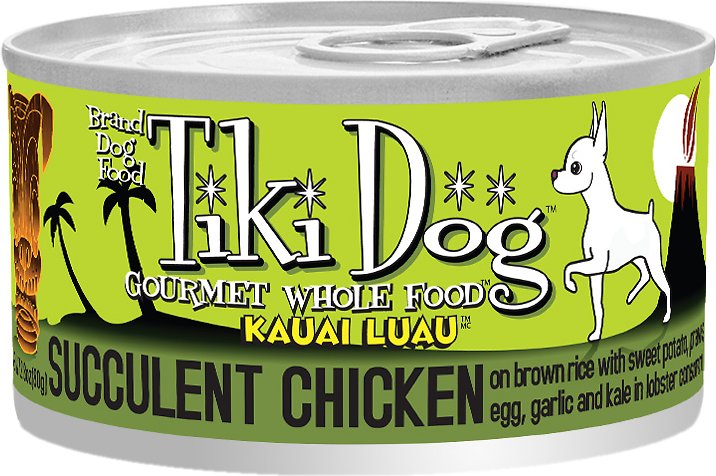 Tiki Dog Kauai Luau Succulent Chicken on Brown Rice with Tiger Prawns Canned Dog Food, 14-oz