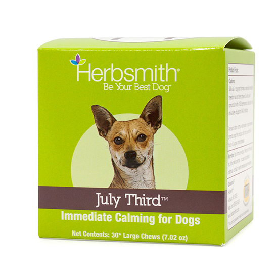 Herbsmith July Third Calming Aid Dog Chews, Small, 30-count