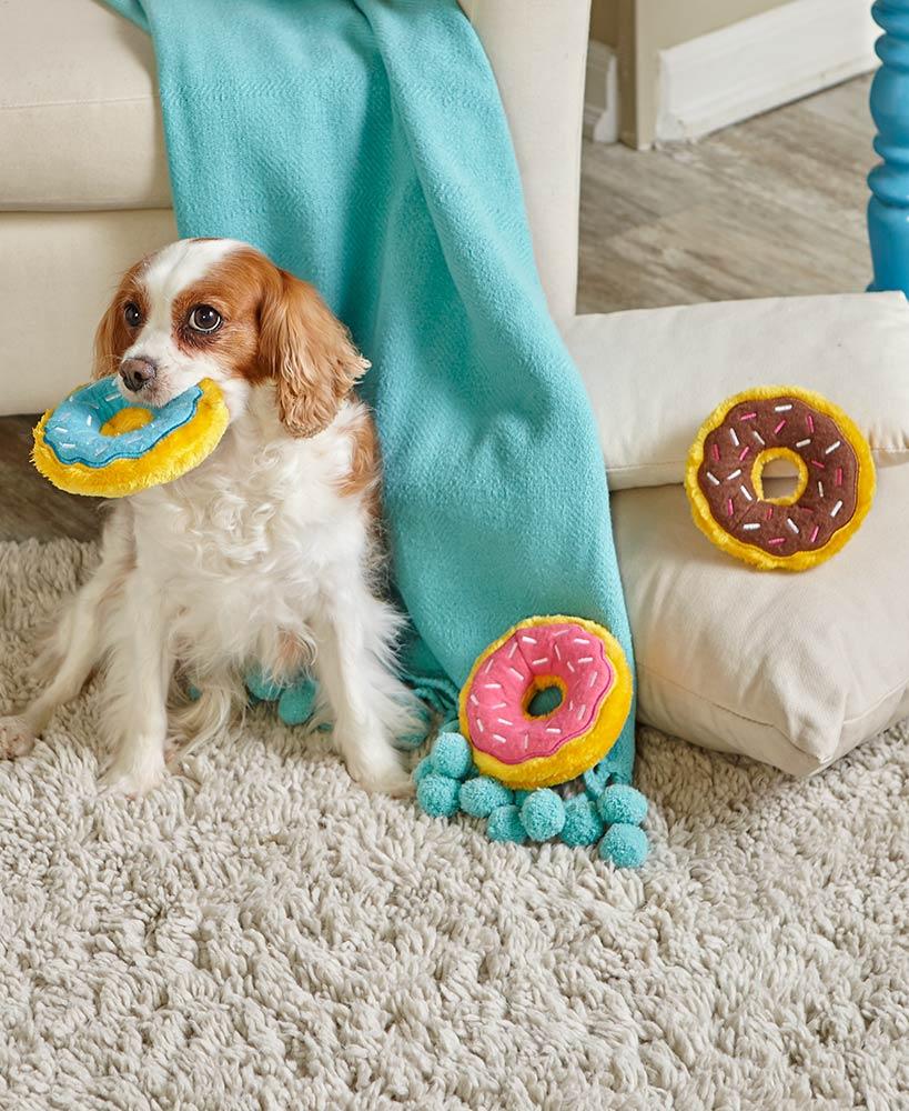 Zippypaws Donutz Squeaky Plush No Stuffing Dog Toy Image