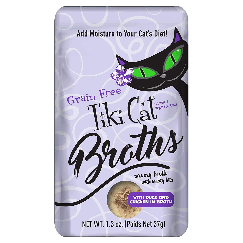 Tiki Cat Broths Duck & Chicken in Broth Wet Cat Food, 1.3-oz pouch