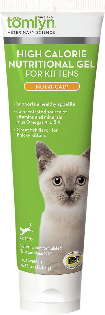 Tomlyn Nutri-Cal High-Calorie Dietary Kitten Supplement, 4.25-oz tube Image