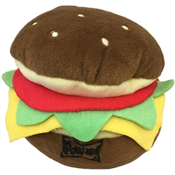 Lulubelles Power Plush Hamburger Dog Toy, Large
