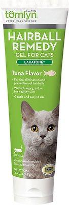 Tomlyn Laxatone Hairball Remedy Tuna Flavor Gel Cat Supplement, 2.5-oz