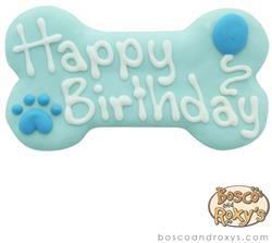 Bosco & Roxy's - BlueBirthday Collection Happy Birthday Bone, 6-inch