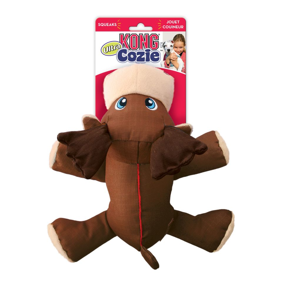 KONG Cozie Ultra Max the Moose Dog Toy, Medium