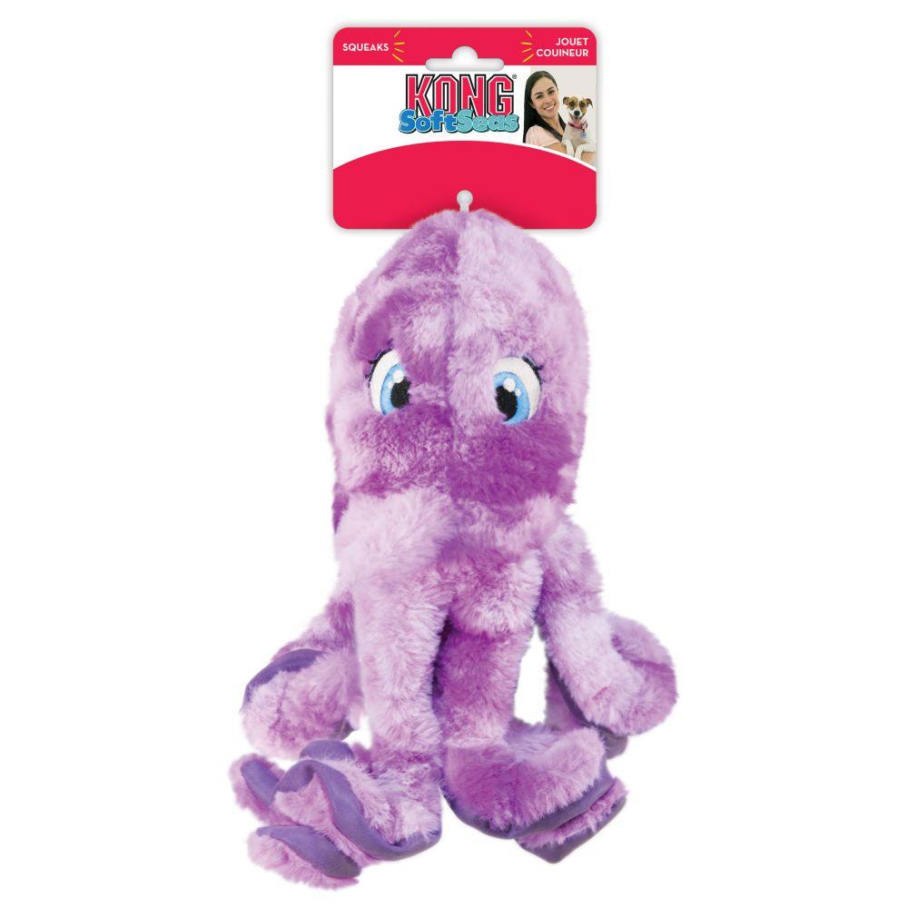 KONG SoftSeas Octopus Plush Dog Toy, Large