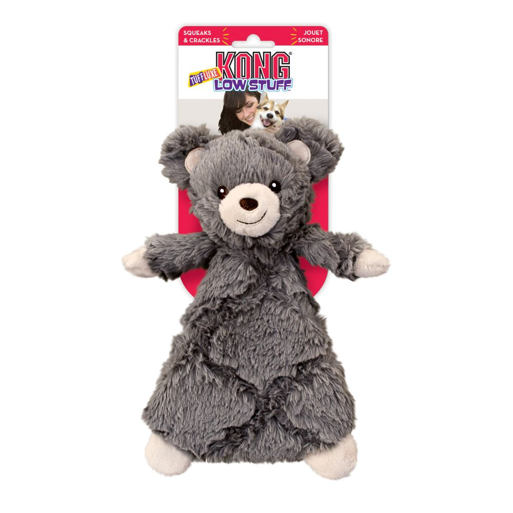 KONG Low Stuff Tuffluxe Bear Plush Dog Toy, Small