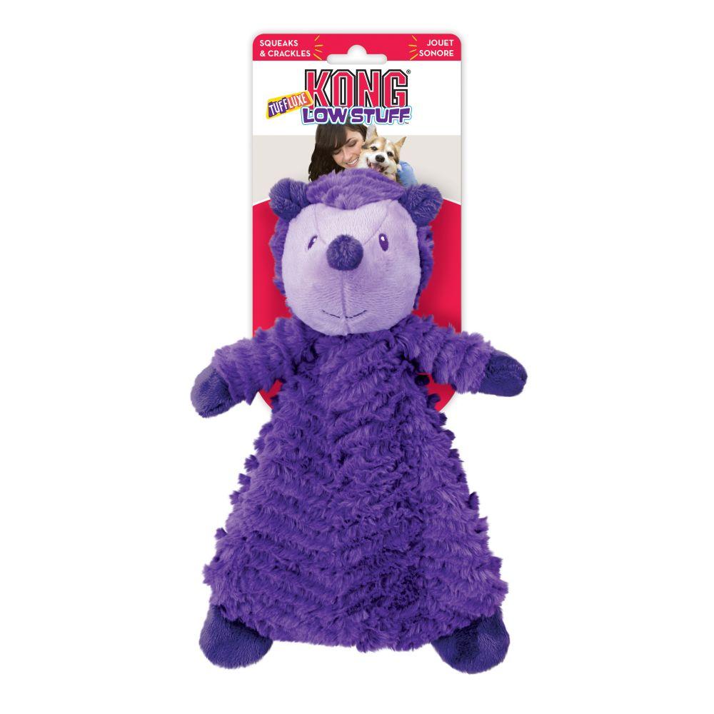 KONG Low Stuff Tuffluxe Hedgehog Plush Dog Toy, Small
