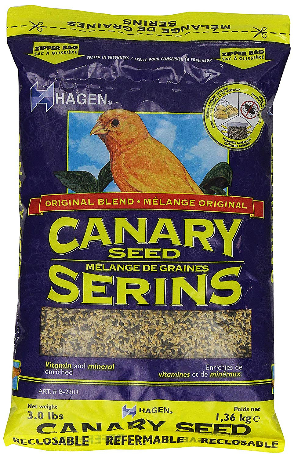 Hagen Canary Staple VME Seed, 3-lbs (Size: 3-lbs) Image