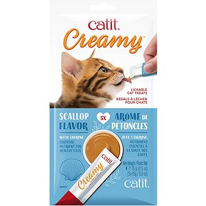 Catit Creamy Scallop Lickable Cat Treats, 5-pk (Size: 5-pk) Image