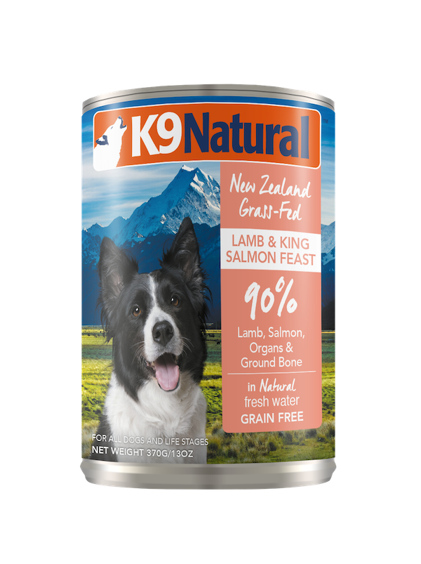 K9 Natural Lamb & Salmon Feast Grain-Free Wet Dog Food, 13-oz can, case of 12