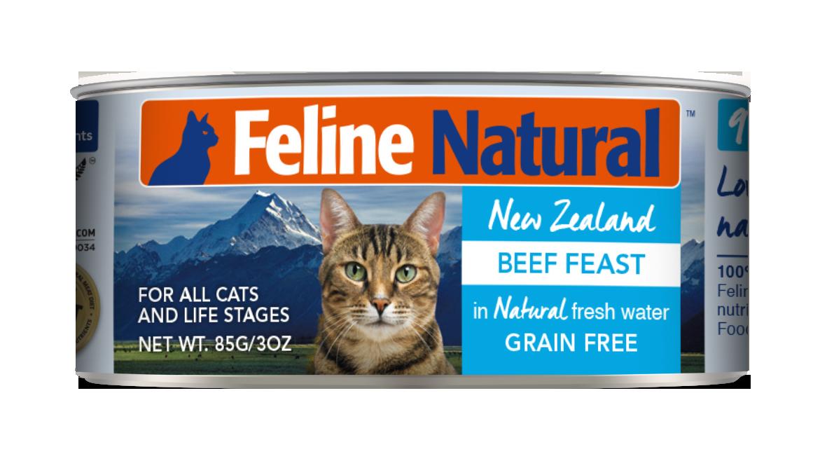 Feline Natural Beef Feast Grain-Free Wet Cat Food, 3-oz can