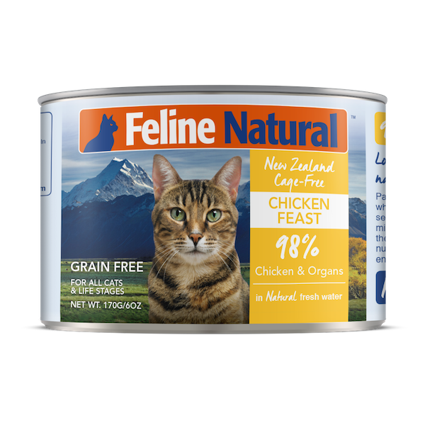 Feline Natural Chicken Feast Grain-Free Wet Cat Food, 6-oz can