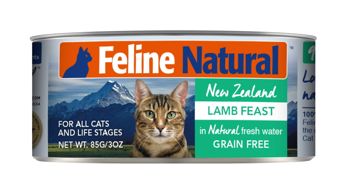 Feline Natural Lamb Feast Grain-Free Wet Cat Food, 3-oz can