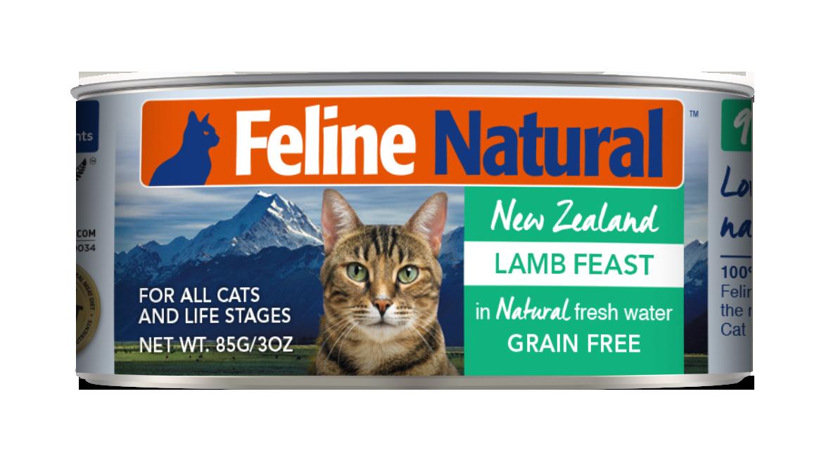 Feline Natural Lamb Feast Grain-Free Wet Cat Food, 3-oz can, case of 24