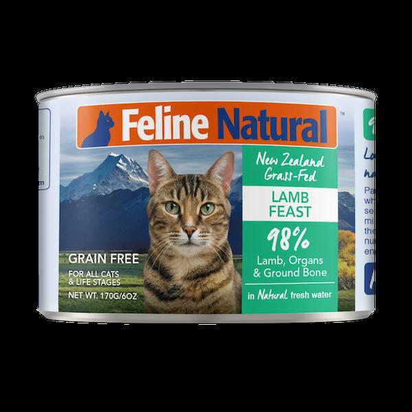 Feline Natural Lamb Feast Grain-Free Wet Cat Food, 6-oz can, case of 24