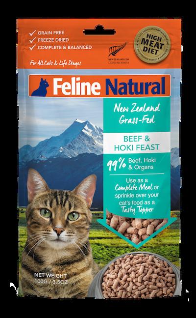Feline Natural Beef & Hoki Feast Grain-Free Freeze-Dried Cat Food & Topper, 3.5-oz