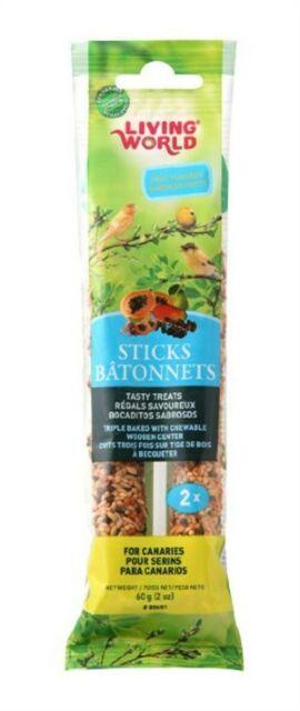 Living World Canary Sticks Fruit Flavor, 2-oz