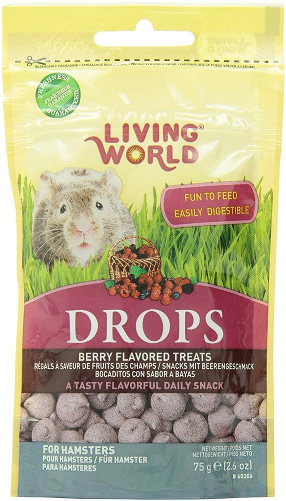 Living World Hamster Drops Fieldberry Flavor, 2.6-oz