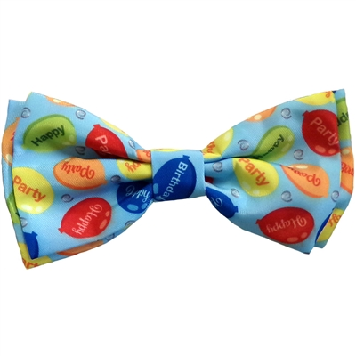 Huxley & Kent Party Time Blue Dog Bow Tie, Small